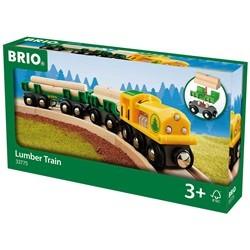 33775 Brio lokomotiv med vogne og tømmer