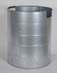 A2 LIVING Mega Plantespand - galvaniseret stål, med håndtag