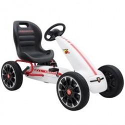 Abarth gokart med pedaler - Hvid