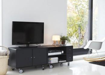 ABC - Quadrant Tv-modul på hjul - Sort