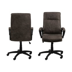 Act Nordic Brad skrivebordsstol m. armlæn og hjul - antracitgrå stof og sort nylon