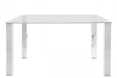 Act Nordic Kante spisebord - glasplade, metalstel (140x90 cm)