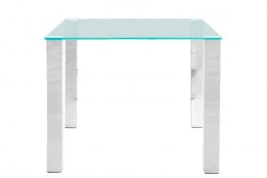 Act Nordic Kante spisebord - glasplade og metalstel, 90 x 90