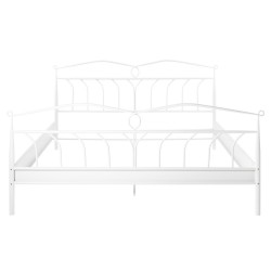 Act Nordic Line seng, kun til boxmadras - hvid metal (180x200)