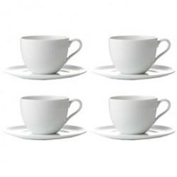 aida Hvid Relief kaffekopper