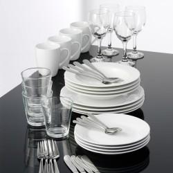 aida stel inkl. glas og bestik - Cafe