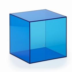 Akryl kasse kvadratisk - blå