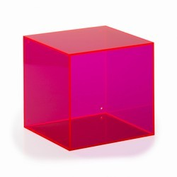 Akryl kasse kvadratisk - pink
