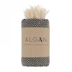 Algan Balik Gæstehåndklæde XS Sort