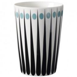 Amanda latte krus (hvid/aqua)