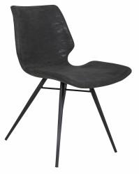 Amelia Spisebordsstol - Sort læderlook