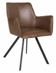 Amigo Spisebordsstol m/armlæn - Brun