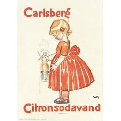 Andersen, Citronvand 70 x 100 cm. indrammet