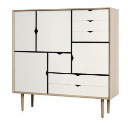 Andersen Furniture - S3 Højskænk - Eg hvidolie - Hvid