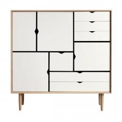 Andersen Furniture - S3 Højskænk - Eg sæbe - Hvid