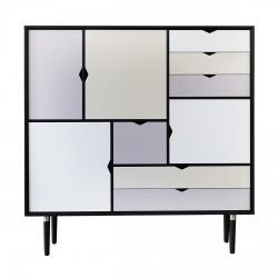 Andersen Furniture - S3 Højskænk - Sort lak - Farve