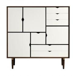Andersen Furniture - S3 Højskænk - Valnød - Hvid