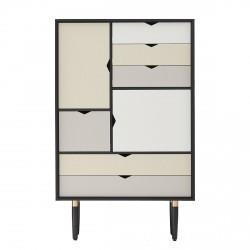 Andersen Furniture - S5 Højskænk - Sort lak - Farve