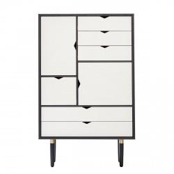 Andersen Furniture - S5 Højskænk - Sort lak - Hvid