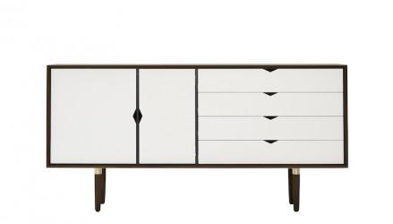Andersen Furniture - S6 Skænk - Valnød - Hvid