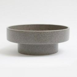 Ania IDA Double Dish Light Grey Dots