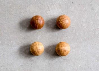 Anne Linde - Oak Ball magneter - 4 stk. eg