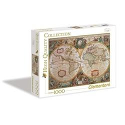 Antik verdenskort puslespil - 1000 brikker