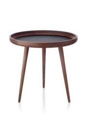 Applicata Tisch Bord Mørk Eg/Sort Ø 49 cm