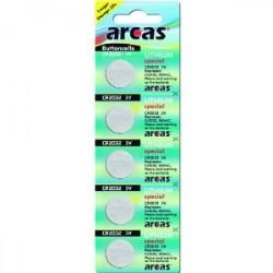 Arcas - CR2032 lithium knapcelle batteri - 5 stk.