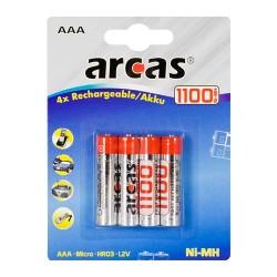 Arcas - Genopladeligt AAA batteri - 4 stk.
