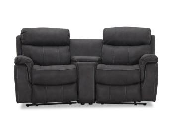 Arizona Biograf sofa recliner grå - 2 pers El recliner i venstre + højre modul med armlæn (+2479 kr)