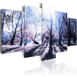 Artgeist billede - Autumn glade, på lærred, to størrelser 200x100