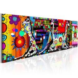 Artgeist billede - Colourful Savannah, på lærred 120x40