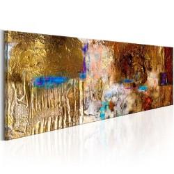Artgeist billede - Golden Structure, på lærred 120x40