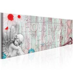 Artgeist billede - Home: House + Love, på lærred 150x50