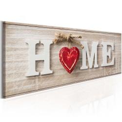 Artgeist billede - Home: Red, på lærred 135x45
