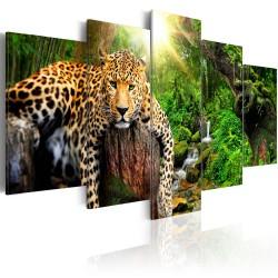 Artgeist billede - Predator's Relaxation, på lærred, to størrelser 100x50