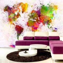 ARTGEIST Dyed World fototapet - multifarvet print (70x100)