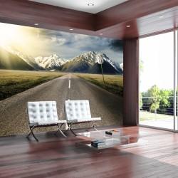 ARTGEIST - Fototapet af omgivelserne omkring den ikoniske Route 66 - Flere størrelser 200x140