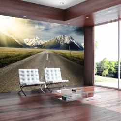 ARTGEIST - Fototapet af omgivelserne omkring den ikoniske Route 66 - Flere størrelser 400x280
