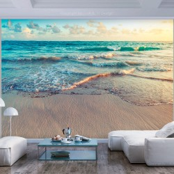 ARTGEIST Fototapet - Beach in Punta Cana, smuk strand (flere størrelser) 100x70