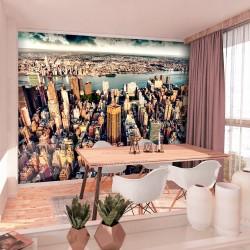 ARTGEIST fototapet - Bird's Eye View of New York, udsigt over New York (flere størrelser) 150x105