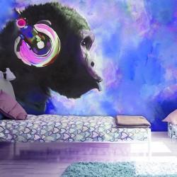 ARTGEIST Fototapet - Blue Melody, abe med headset (flere størrelser) 100x70