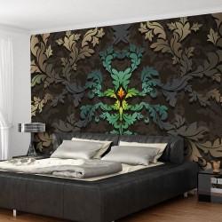 ARTGEIST Fototapet - Dancing leaves, dansende blade (flere størrelser) 100x70