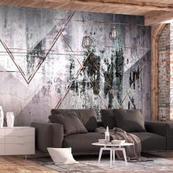 ARTGEIST Fototapet - Geometric Wall, rå geometri (flere størrelser) 300x210