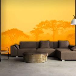 ARTGEIST Fototapet - Orange savanna (flere størrelser) 400x309