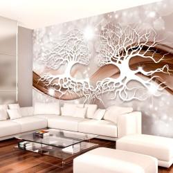 ARTGEIST Fototapet - Structure of Love, to træer med smuk baggrund (flere størrelser) 350x245