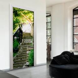 ARTGEIST Fototapet til døren - Stony Stairs 70x210