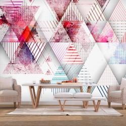 ARTGEIST Fototapet - Triangular World, triangulært mønster (flere størrelser) 200x140