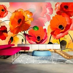 Artgeist fototapet XXL - Velvet poppies, multifarvet print (280x500) 500x280